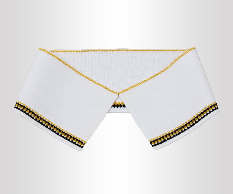 针织双面白色带小提花罗纹领横机领厂家批发