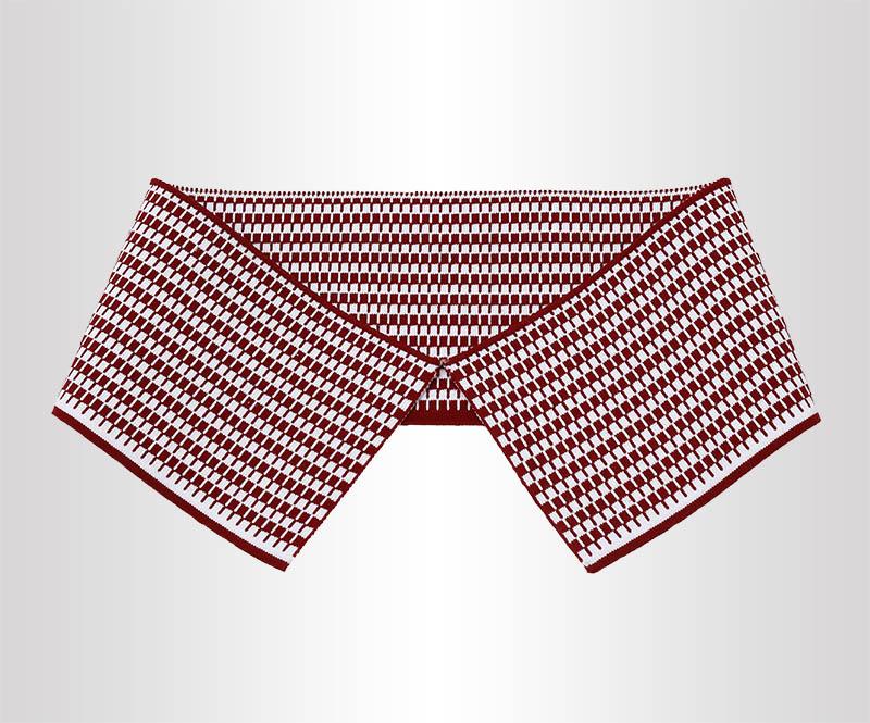 满天星提花18针针织短袖T恤衫横机罗纹领