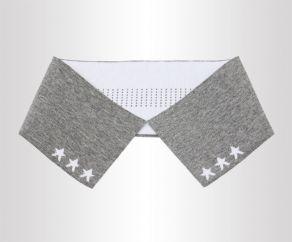 灰白双面14针翻针丝光横机领针织罗纹衣领