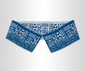 双丝光棉两面带不规则图案提花罗纹领横机领